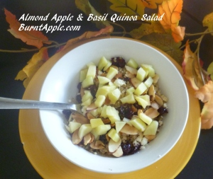 almond apple and basil quinoa salad