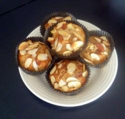 pomegranate, apple, almond muffin