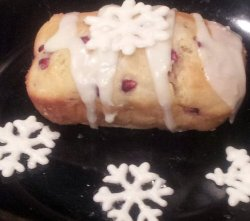 pomegranate white chocolate bread